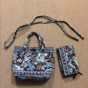 Vera Bradley Java Blue Purse And Wallet